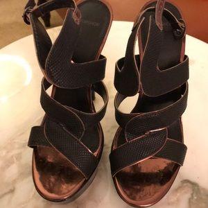 Cooper Leather Trimmed Heels